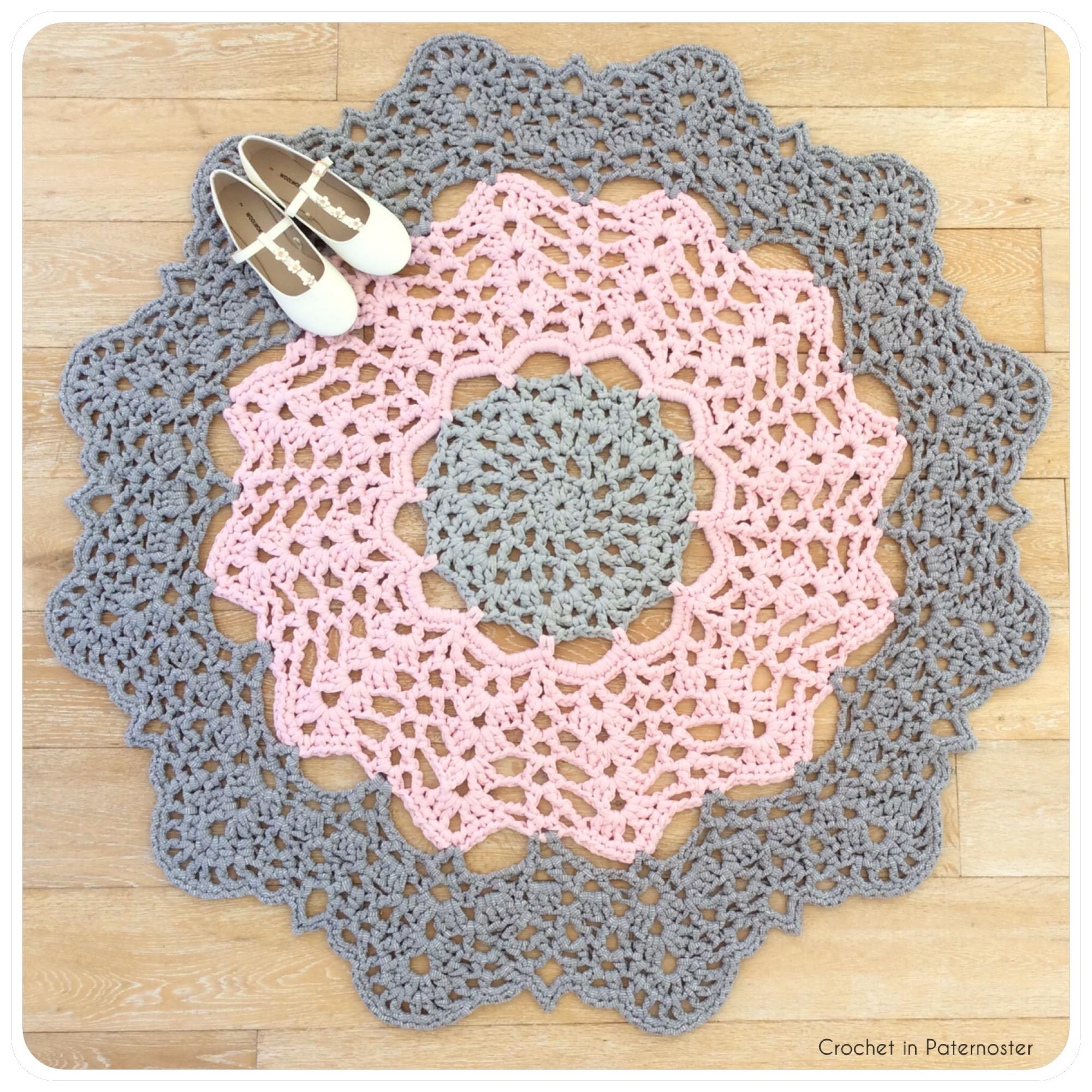 t-shirt rug – Crochet in Paternoster